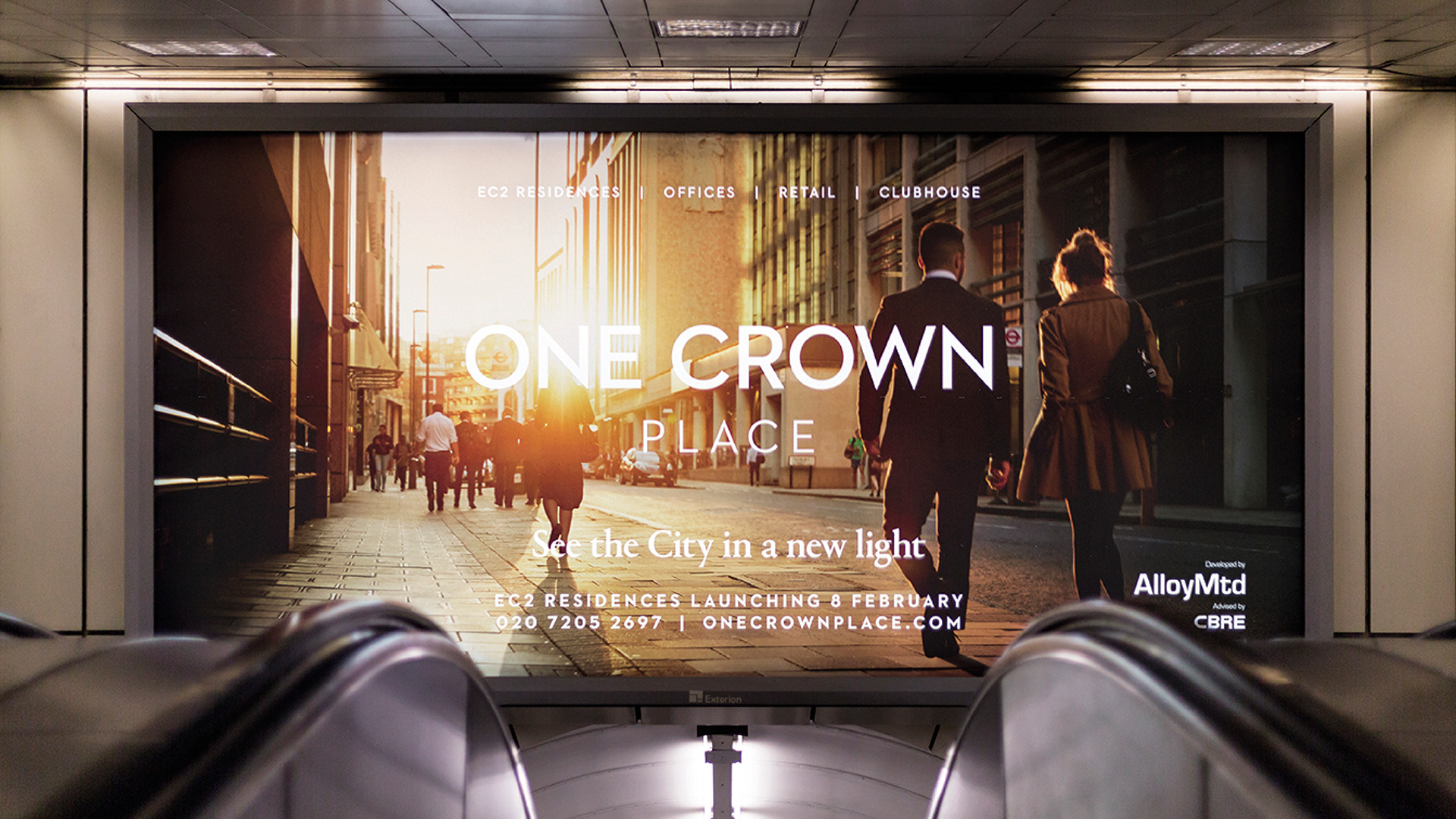 One Crown Place OOH
