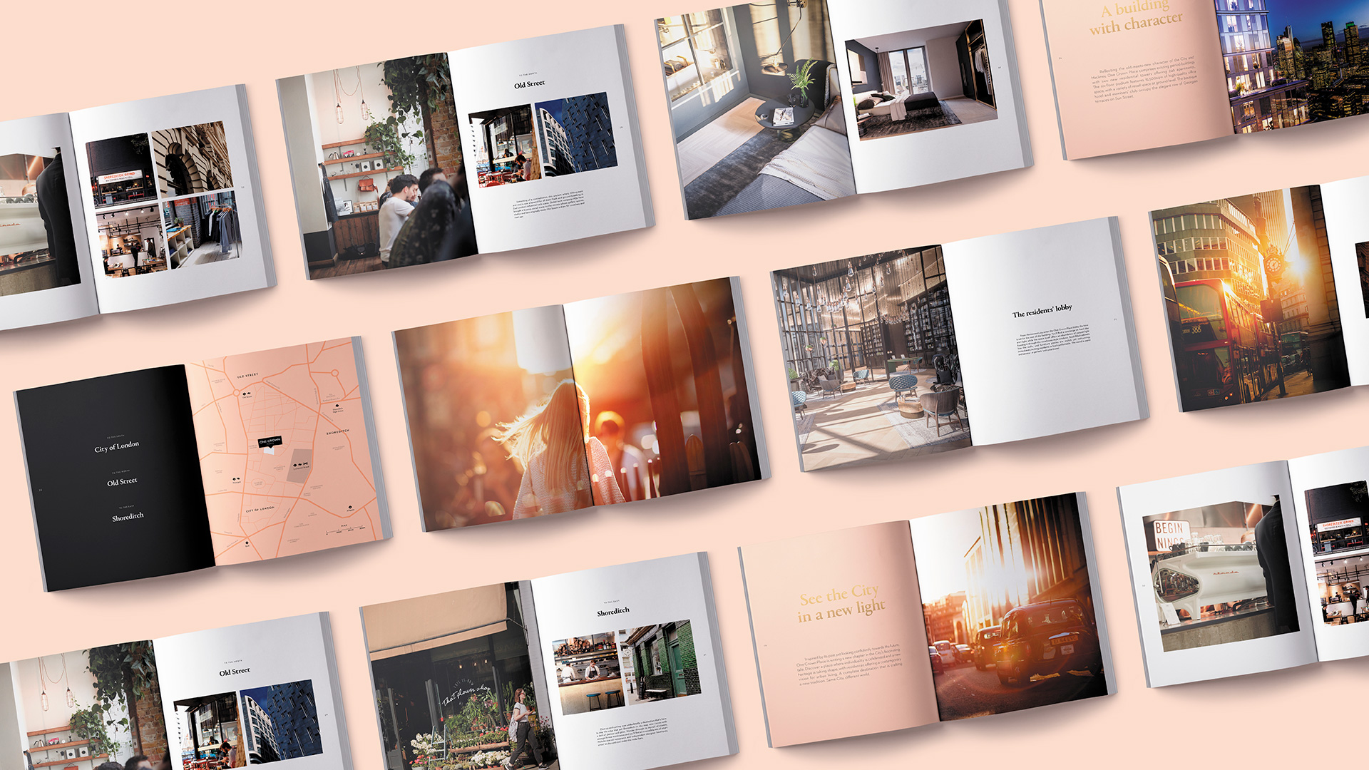 One Crown Place brochure spreads