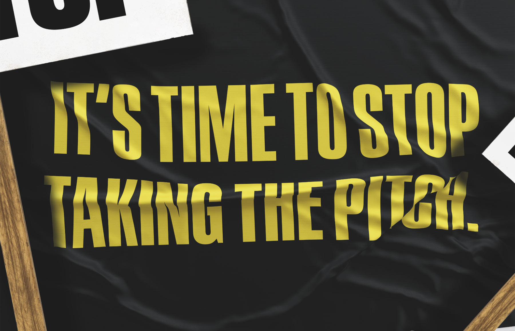 It's time to stop taking the pitch